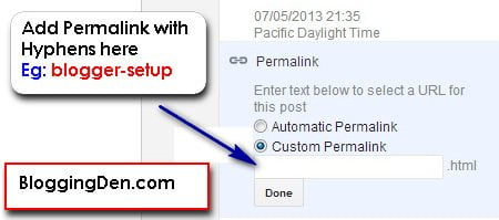 Permalink in Blogger : How to Setup in Blogger Blogs?