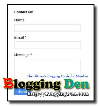 Addition of Contact form officially on Blogger