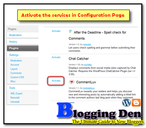 Activate commentLuv plugin in Blogger blogs