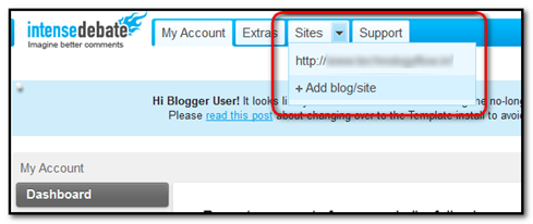 add your blogspot blog URL here