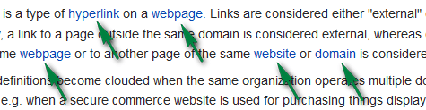 Internal linking is important in On Page SEO