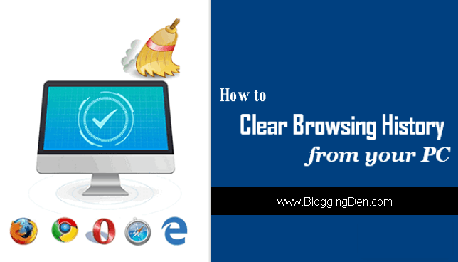 how to clear windows history file