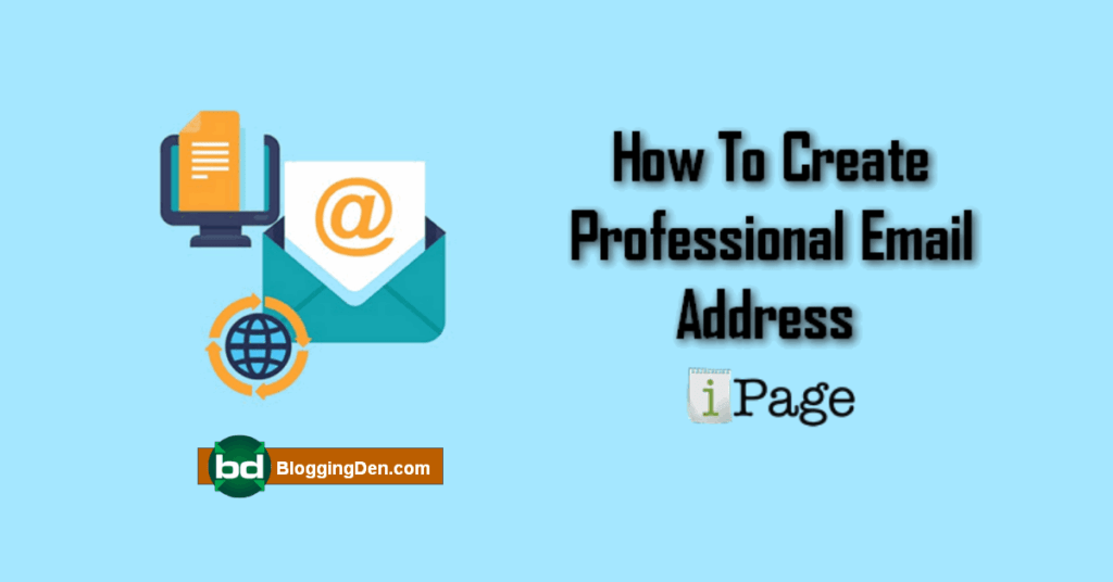 create professional email from ipage