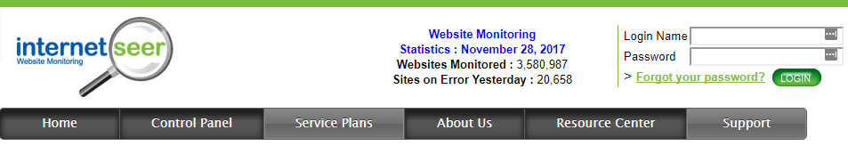 Internetseer website monitoring tool