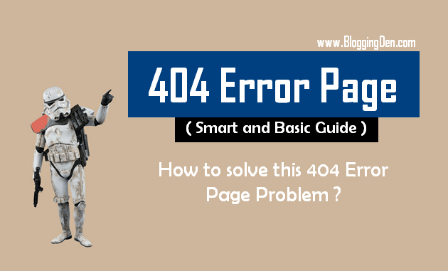 404 error page smart basic guide