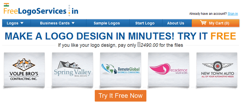 freelogoservices to design free logo