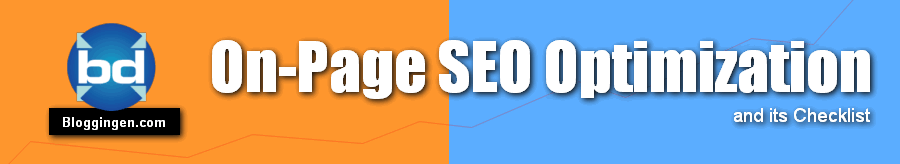On Page SEO checklist for optimization