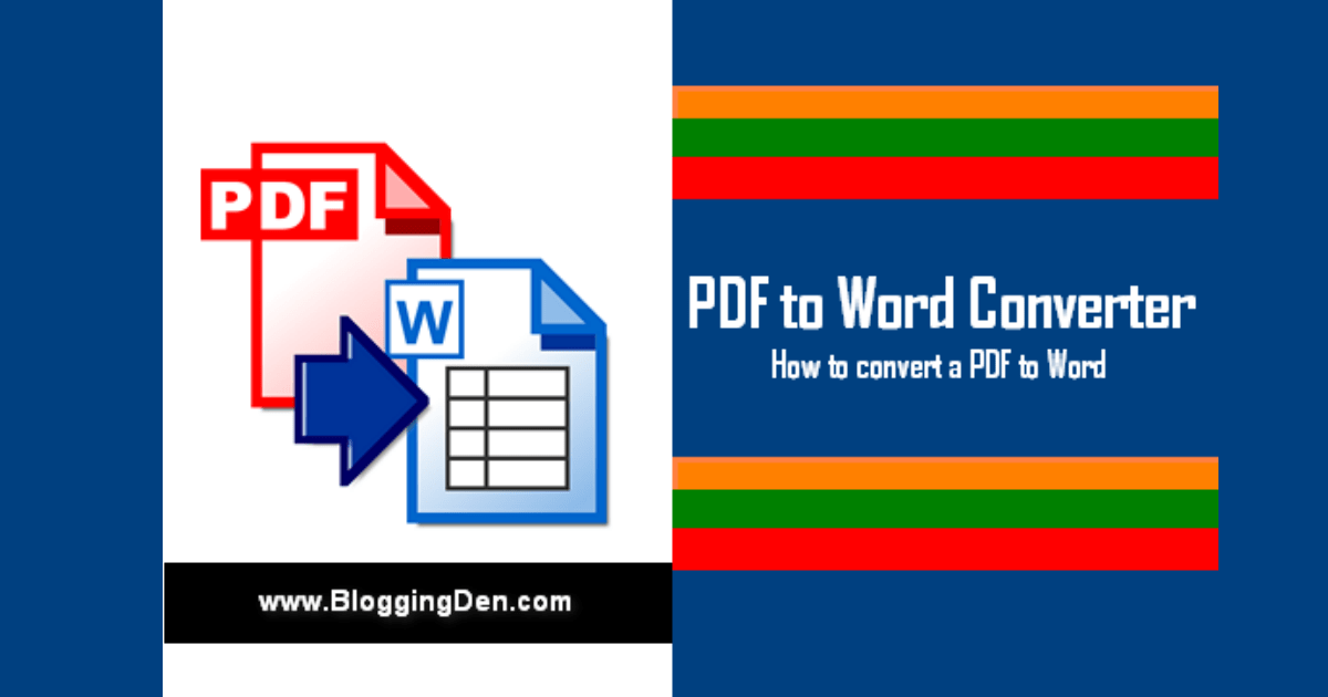 PDF to Word Converter: How to convert a PDF to Word