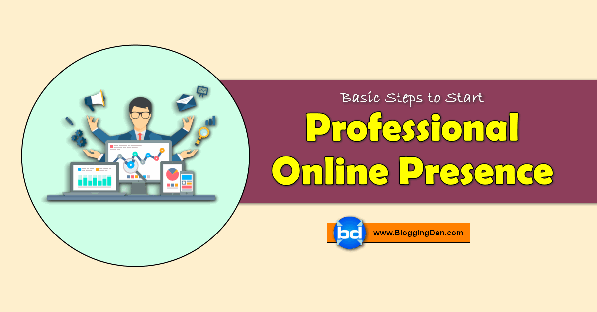 professional online presence to start
