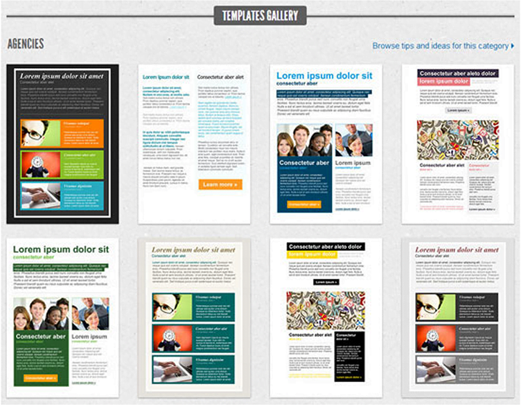Getresponse Design and Template Gallery