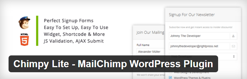 Chimpy Lite - Mailchimp WordPress Plugin