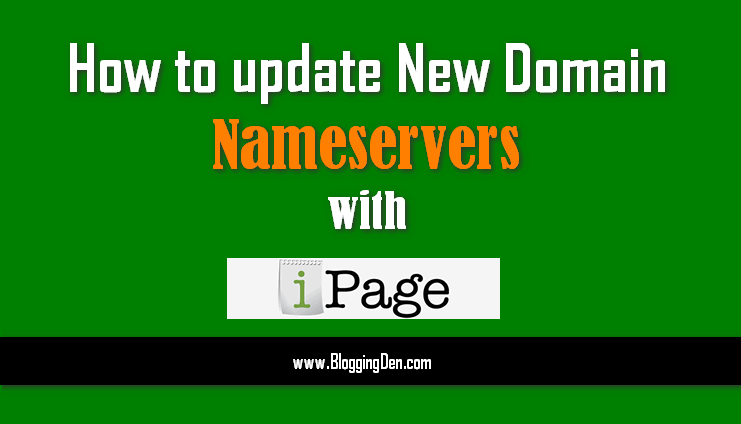 How to update New Domain nameservers with iPage Hosting