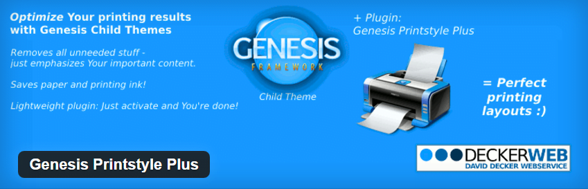 Genesis Printstyle Plus Plugin