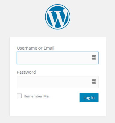 wordpress site login page