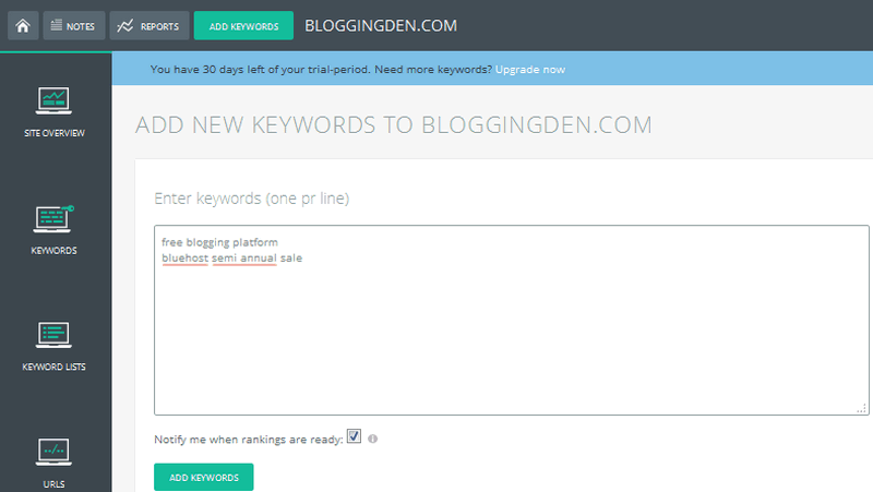 Add new keywords here