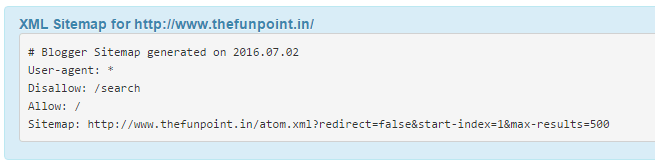 XML sitemap of thefunpoint.in