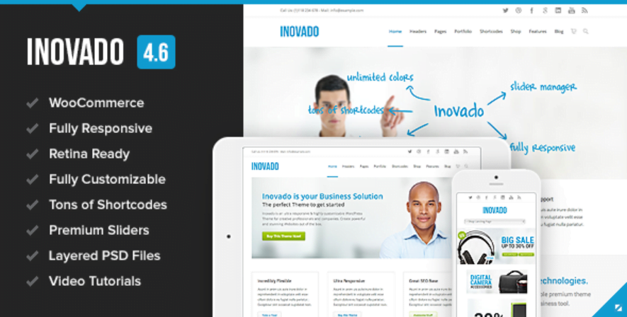 invado responsive wordpress theme