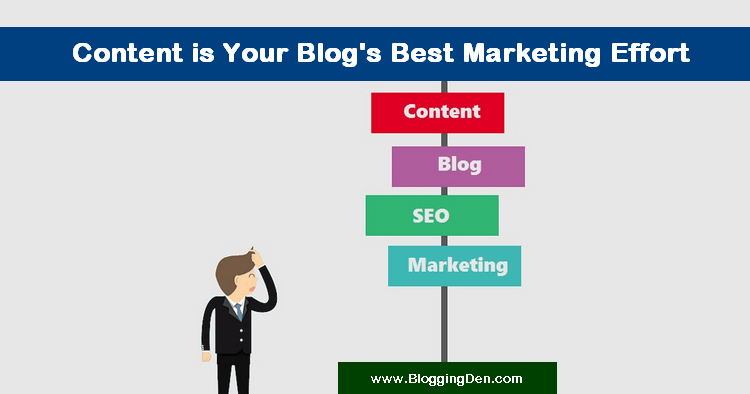 Content is Your Blog's Best Marketing Effort