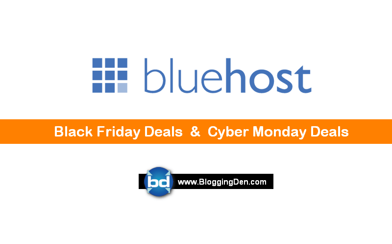Bluehost Black friday deals 2017