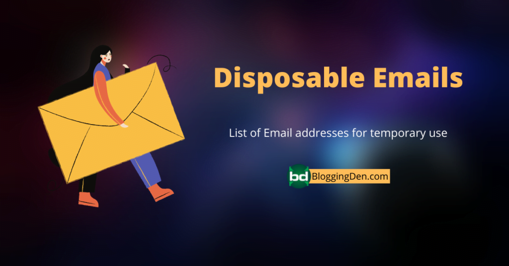 Disposable Emails for temporary use