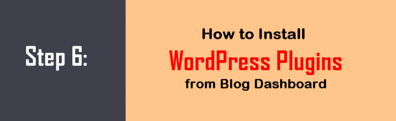 Step 6 How to Install WordPress Plugins from blog dashboard