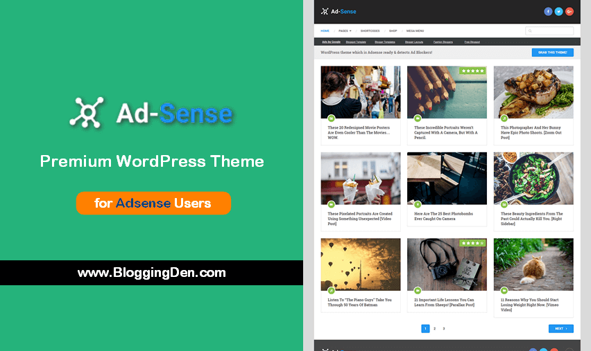 Ad-sense Wordpress Theme: For Better CTR and Adsense revenue