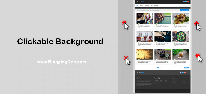 clickable theme background
