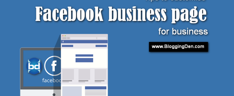tips to customise Facebook business page