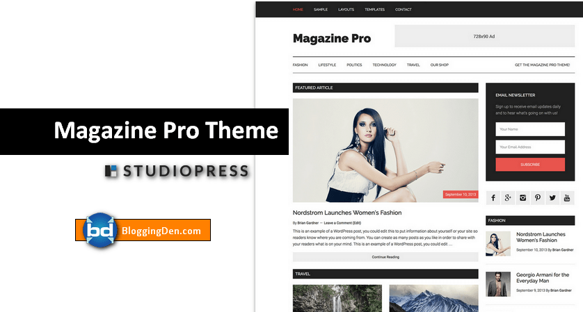 MagazinePro Theme from Studiopress