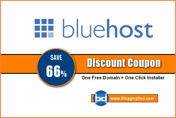 Bluehost hosting coupon code