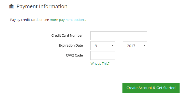 Greengeeks Payment Information