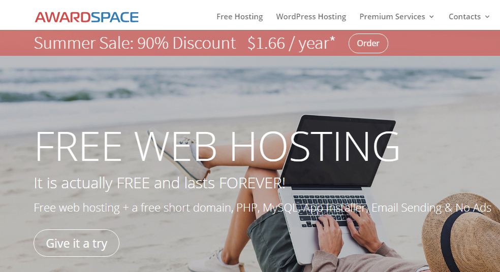 awardspace web hosting