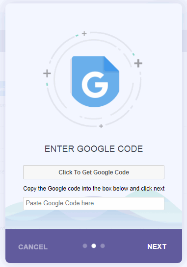Google code authentication code