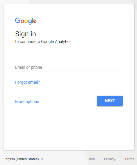 google analytics signup