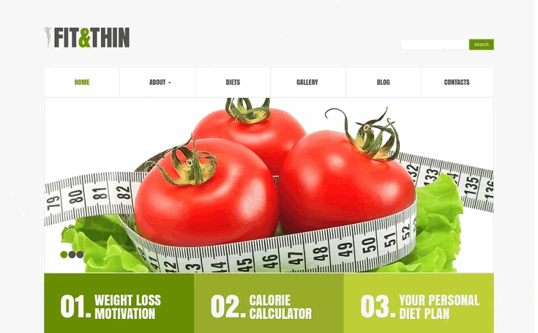 Fit and Thin WordPress theme