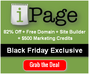 ipage Black Friday deal 2018