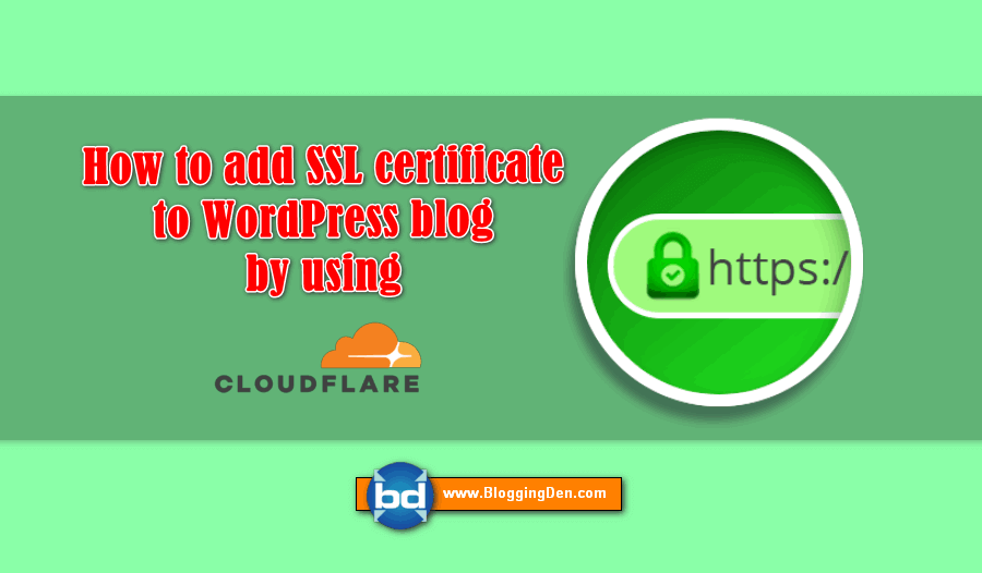 Free Cloudflare Flexible SSL setup