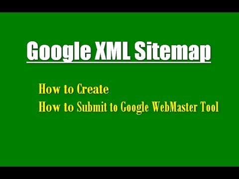 XML sitemap creation