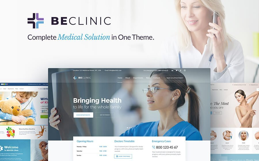 BeClinic Theme from template monster