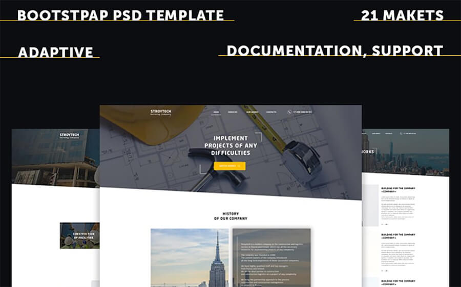 Building Responsive PSD Template from template monster