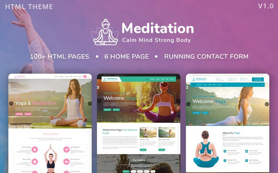 Meditation Theme from template monster