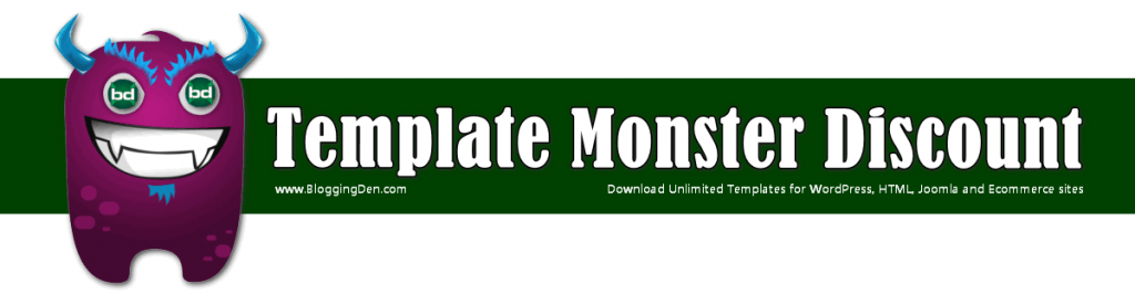 template monster deal and discount