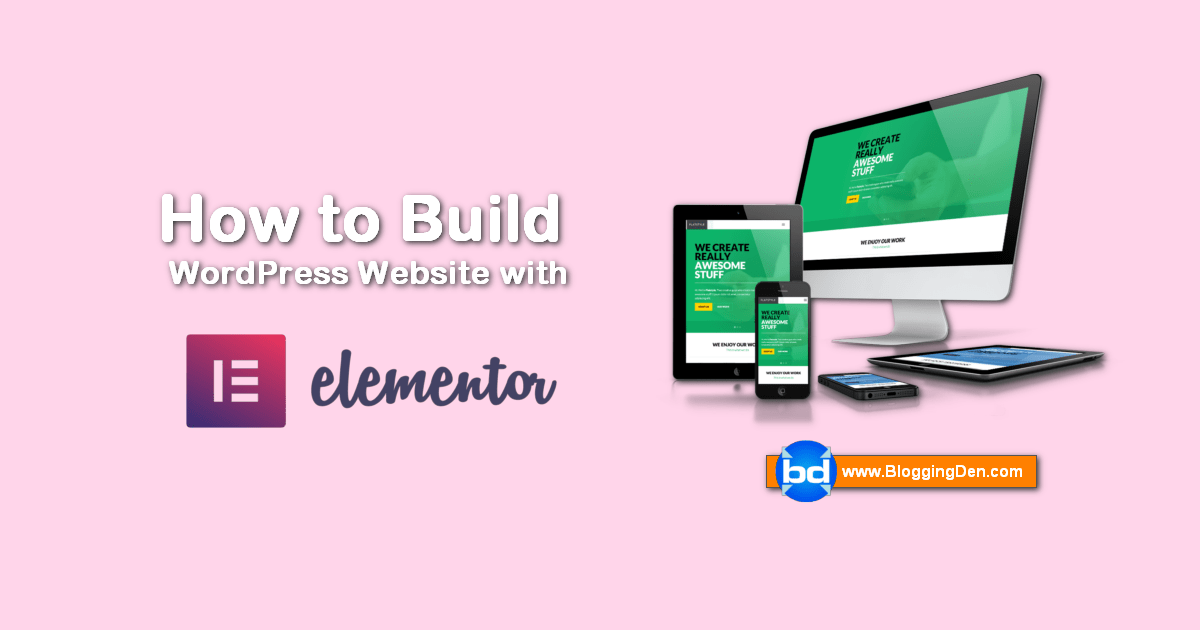How to make a WordPress website with Elementor Plugin