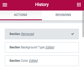 Elementor History