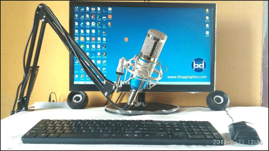 blogging den setup
