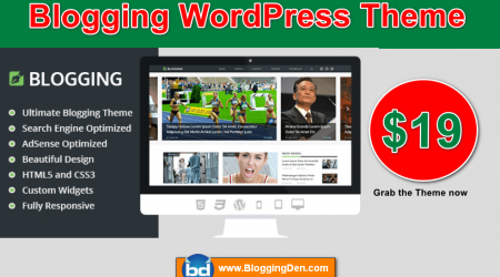 Grab this Blogging WordPress theme at $19 (Ultimate theme for Bloggers)