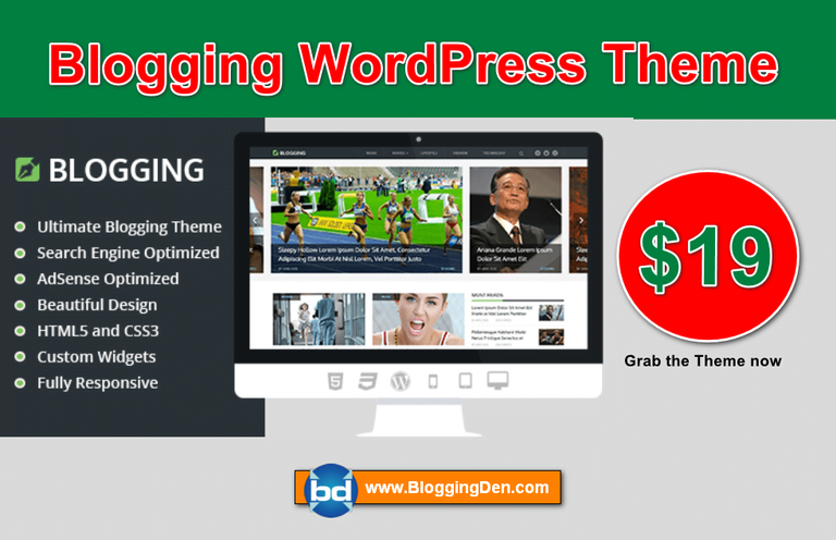 blogging wordpress theme from Mythemeshop
