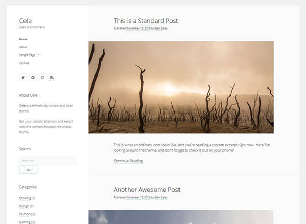 cele wordpress theme