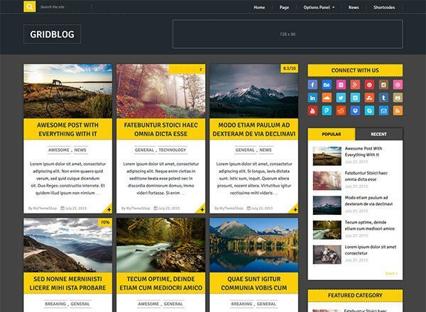 gridblog wordpress theme