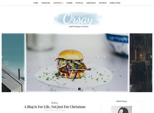 orsay wordpress theme